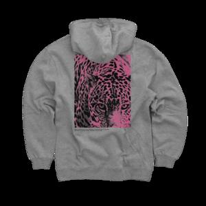 Leopard Heather Grey Pullover