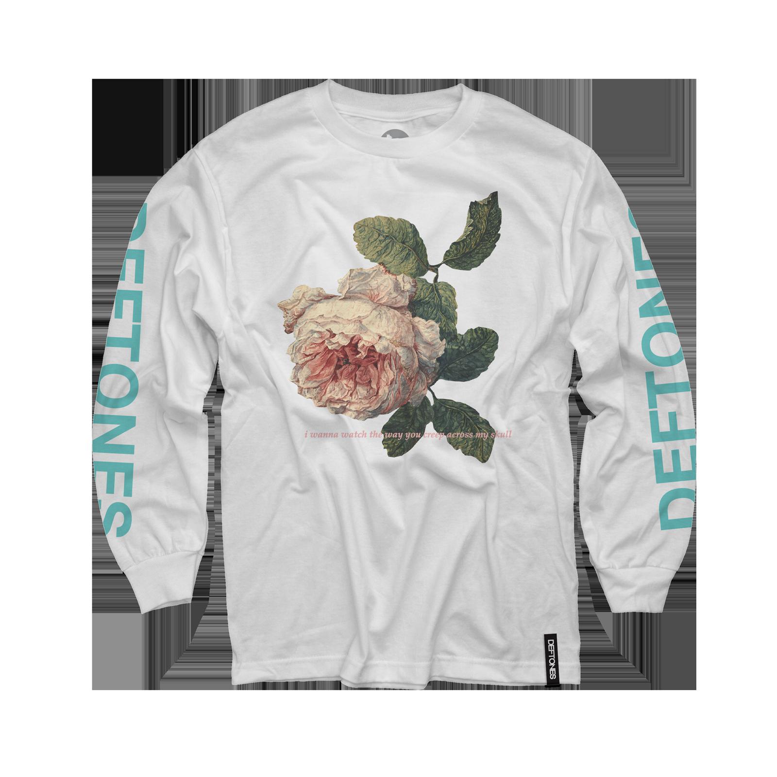 Flower Seafoam Green Longsleeve on White