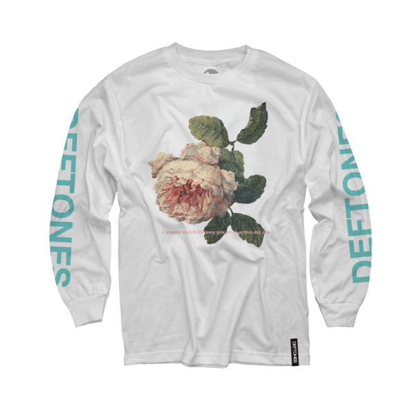 Flower Seafoam Green Longsleeve on White