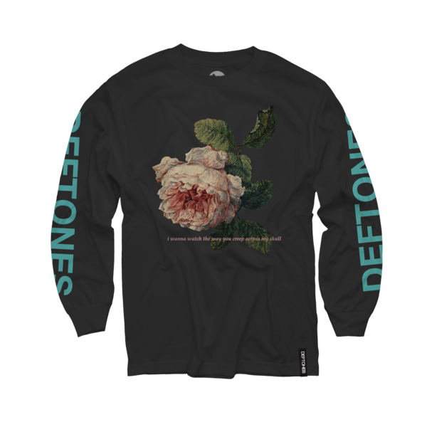 Flower Seafoam Green Longsleeve on Black