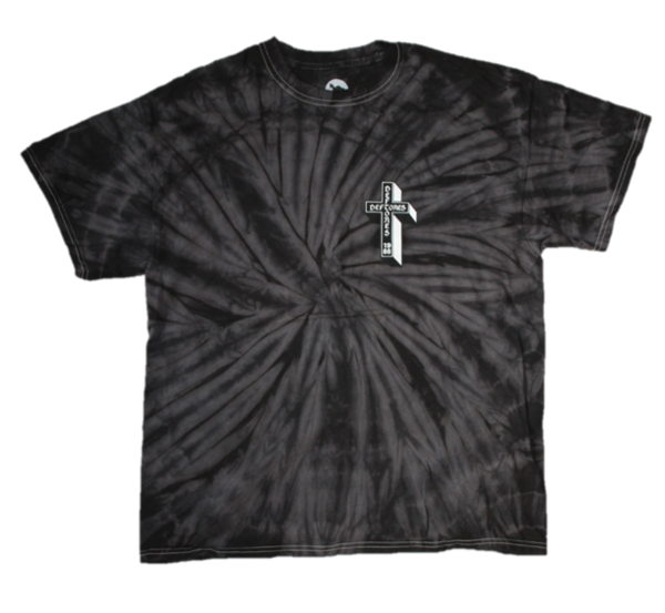 Coffin Logo Tee on Tie Dye (Black)