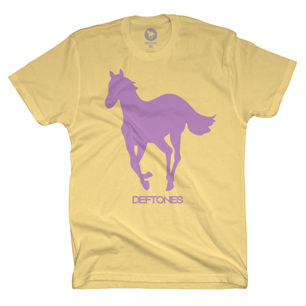 Purple on Banana Yellow Pony T-Shirt