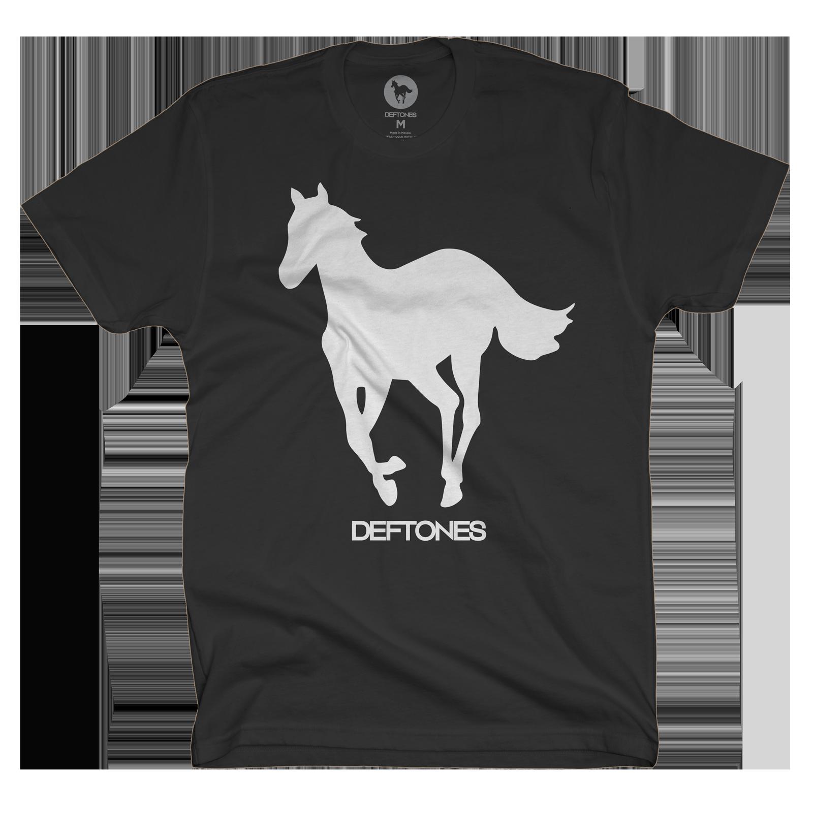 White on Black Pony T-Shirt