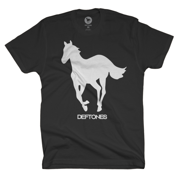 White on Black Pony T-Shirt