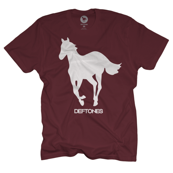White on Maroon Pony T-Shirt
