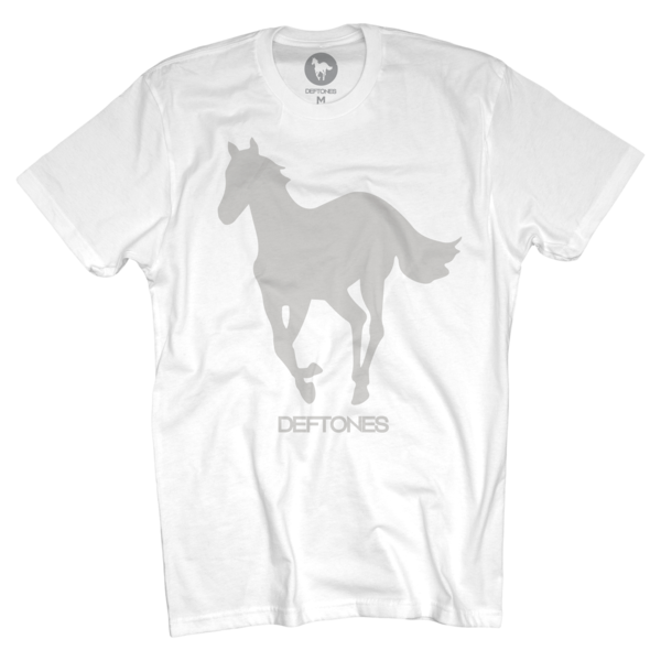 Grey on White Pony T-Shirt