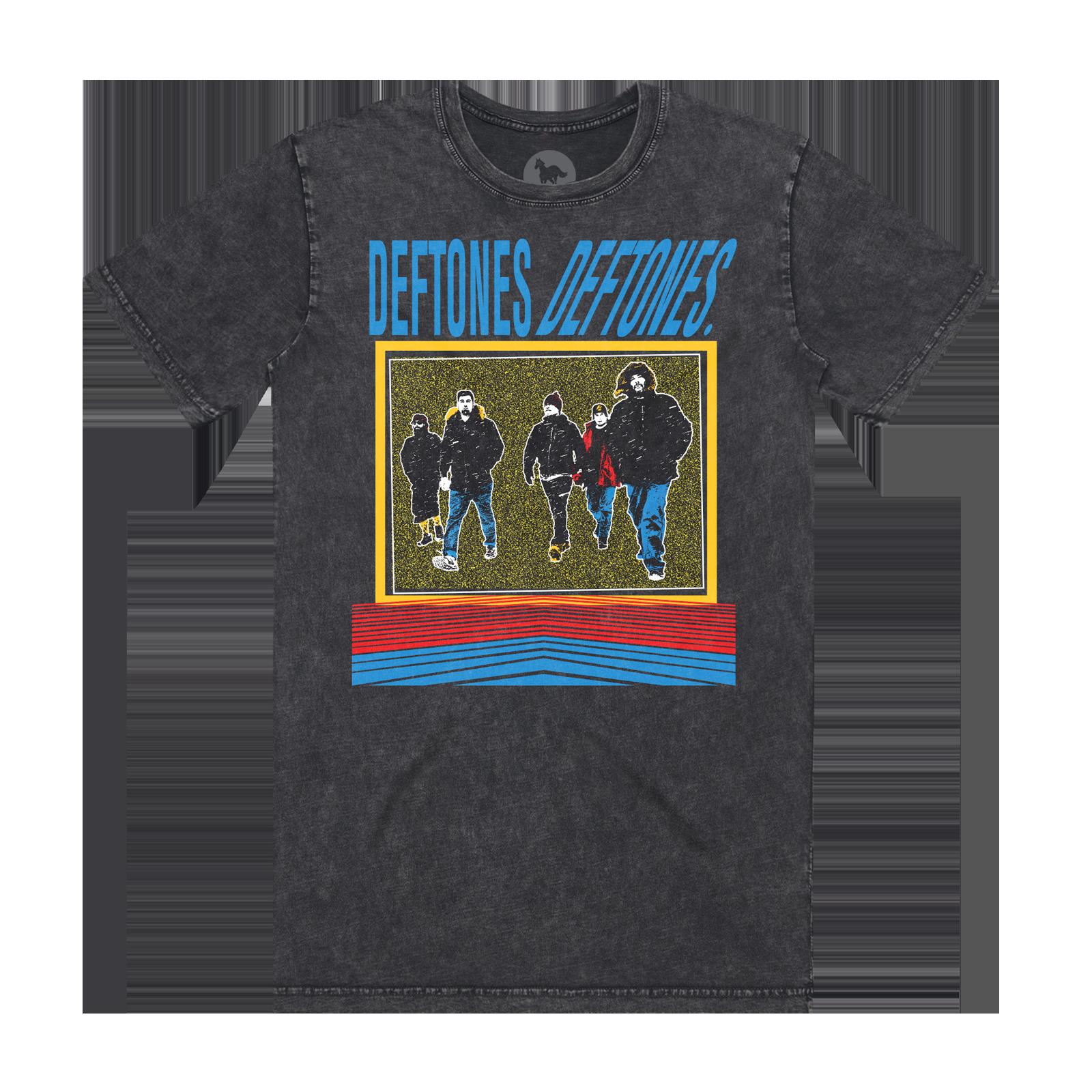 Deftones Deftones Band Photo Stone Wash Black T-Shirt