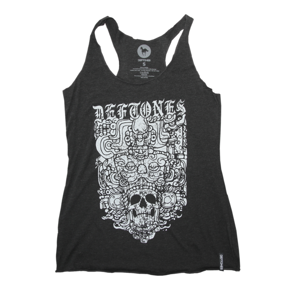 Ancient Skull Racerback Tank (Black)