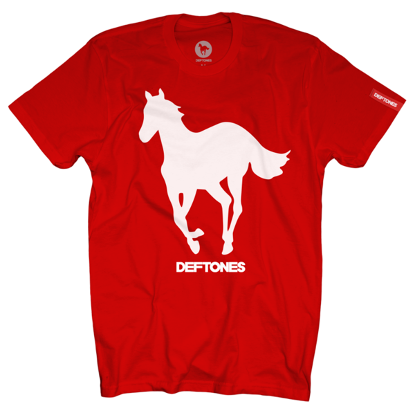 White Pony Red T-Shirt