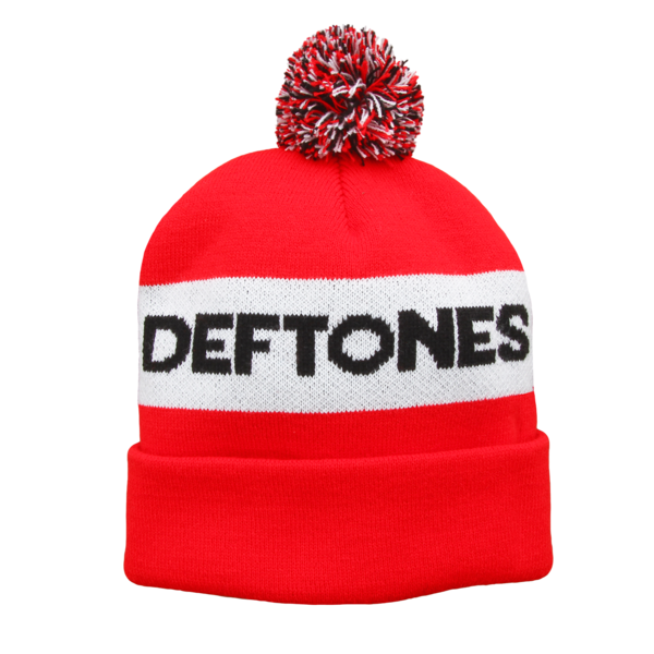 Deftones Logo Bobble Hat (Red)