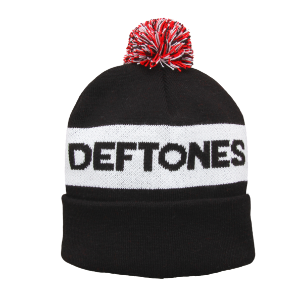 Deftones Logo Bobble Hat (Black)
