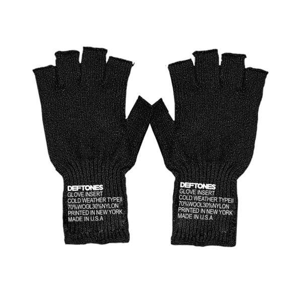 Deftones Logo Fingerless Gloves