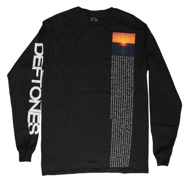 Sunset Black Longsleeve Top