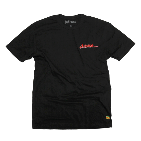 Embroidered Quickness Black T-Shirt